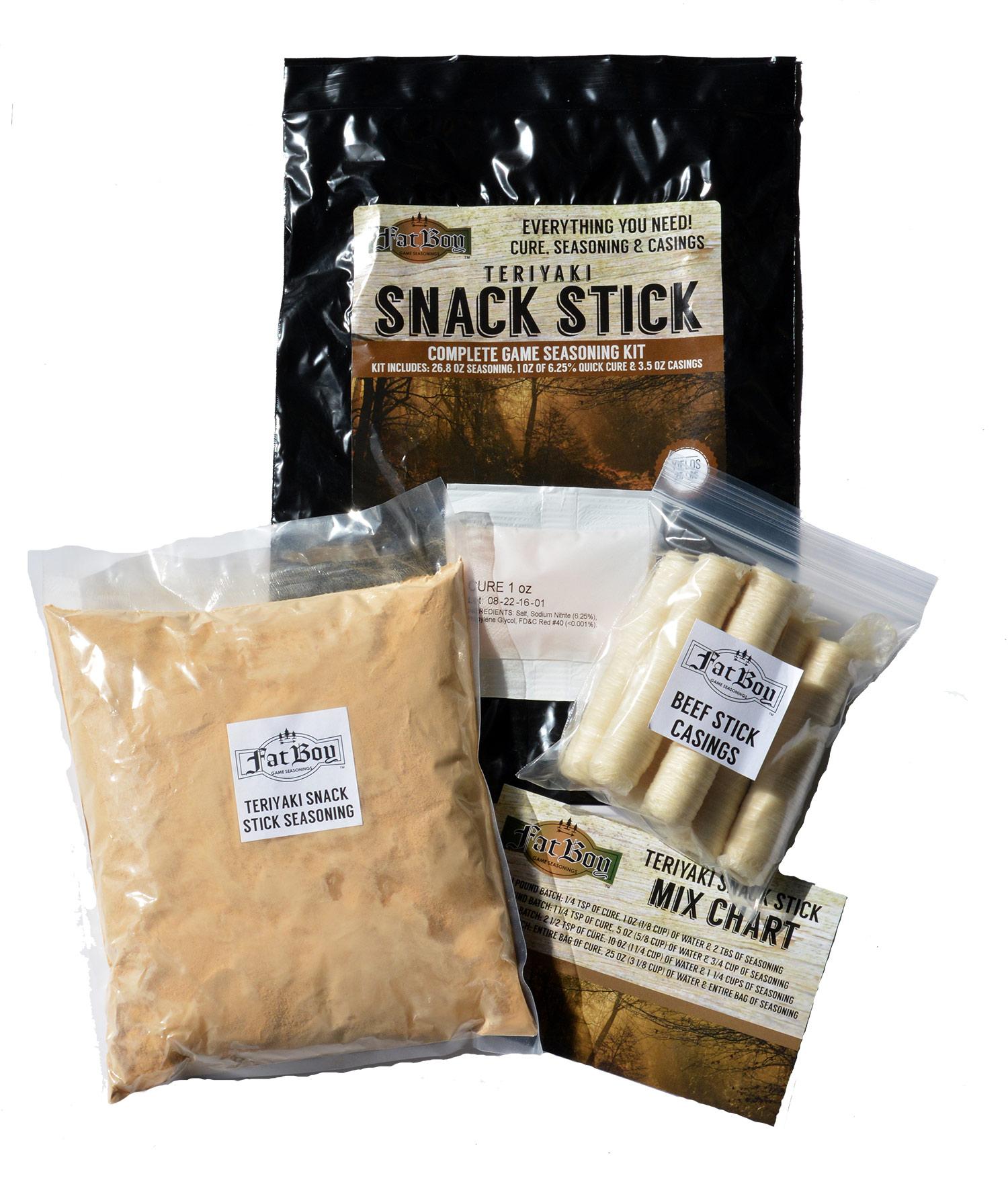 Teriyaki Snack Stick Seasoning Kit Fat Boy Game Seasonings